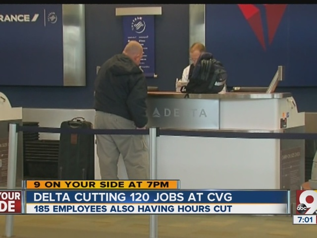 Delta to lay off 100-plus workers at CVG