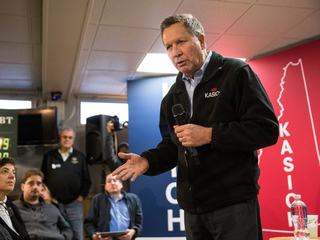 Kasich keeps it positive in final days before NH
