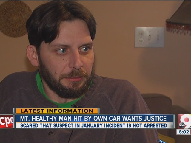 Car theft victim hit by his own vehicle wants justice
