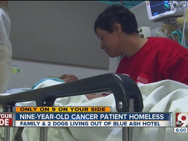 Child with cancer, family homeless in Cincinnati