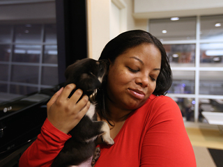 UberPUPPIES visit WCPO's newsroom