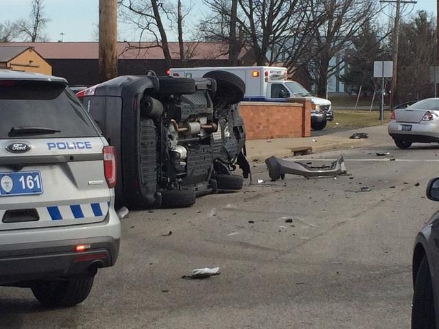 PD: Two men shot in Blue Ash, flipped car