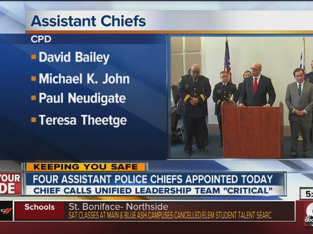 Four named assistant police chiefs