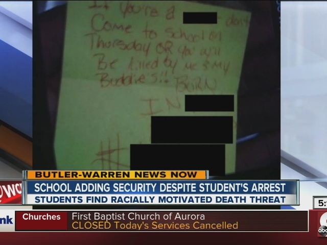 Middletown High School student arrested for racist, threatening note