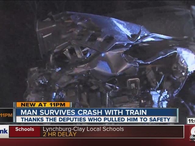 Train crash survivor: 'I just kept sliding'
