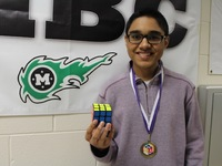 He set Rubik's Cube records -- without looking