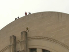 WATCH: Climber rappels down Union Terminal