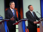 Allies of Bush, Kasich spar on military spending