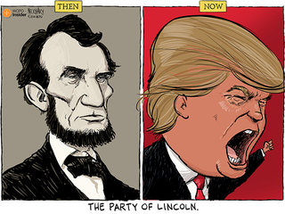 Cartoon: The party of Lincoln has become the party of Trump. And ...