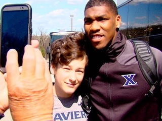 Fans send off Xavier men's basketball team