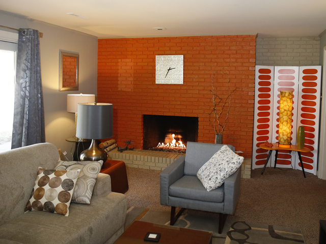 the lower level fireplace in the westwood home of rafe jones and kelly hale tuesday march 29 the home will be featured on the westwood - Good Bones