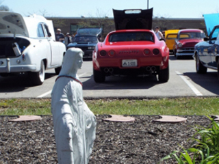 Classic cars cruise the highway to heaven