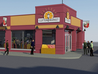 Clifton Market 'now a construction zone'