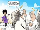 CARTOON: How heaven greets music icon Prince