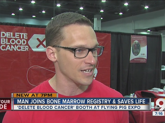 Flying Pig booth connects blood marrow donor with woman in need
