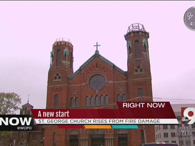 St. George rises from fire damage.