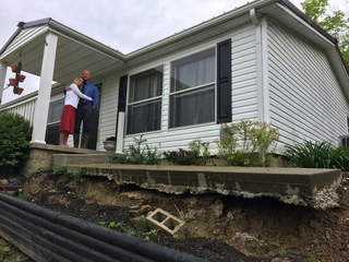 Landslide forces homeowners out