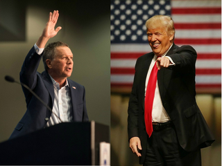 Trump 'interested in vetting' Kasich as VP