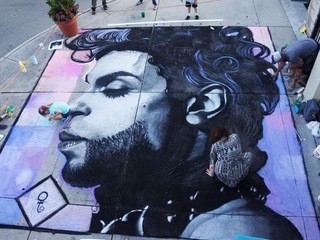 Chalk art honoring Prince goes viral