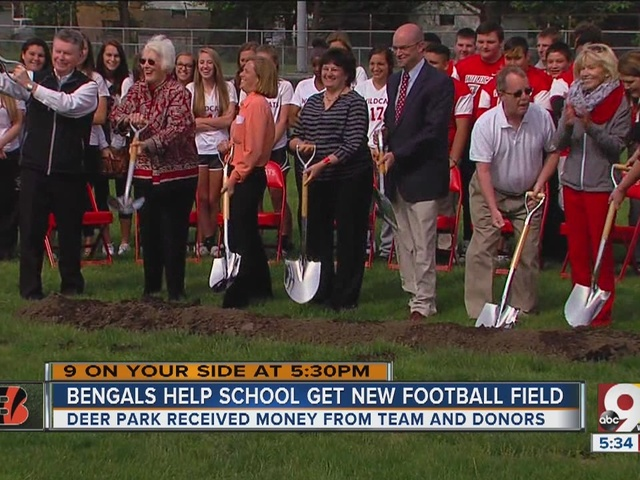 Bengals help Deer Park get a new football field