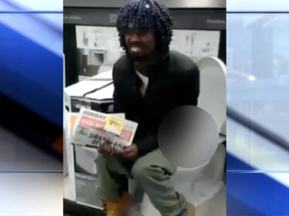 Local man defecates in Lowe's display toilet