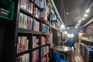 Inside the Rook OTR board game parlor and bar