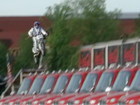 VIDEO: Knievel jumps 24 trucks at Kings Island