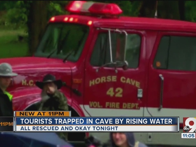Downpour leaves 19 stranded in Kentucky's Hidden River Cave
