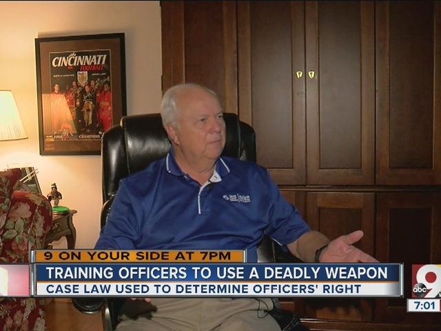 How are officers trained to use deadly force?