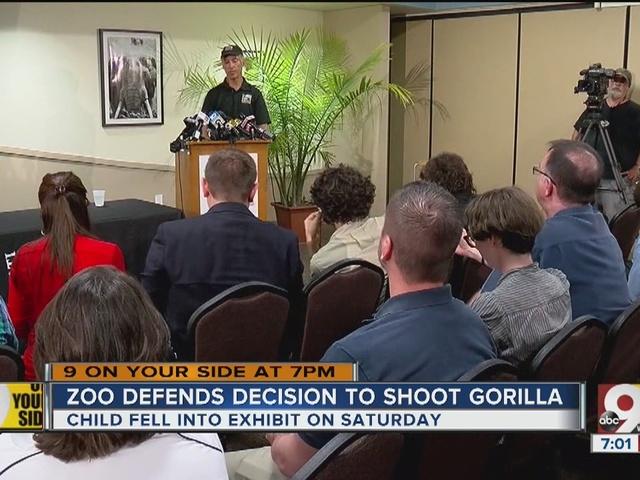 Cincinnati zoo director: Critics are Monday-morning quarterbacking
