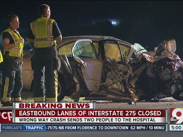 Police: 23-year-old woman in critical condition after I-275 wrong-way crash
