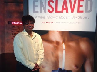 Modern-day slavery exhibit hits close to home
