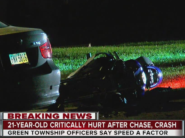 PD: Man wrecks motorcycle during police chase