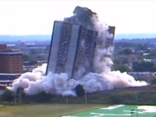 WATCH: 27-story UC dorm bites dust 25 years ago