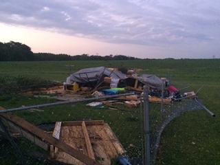 Family scrambled to escape tornado
