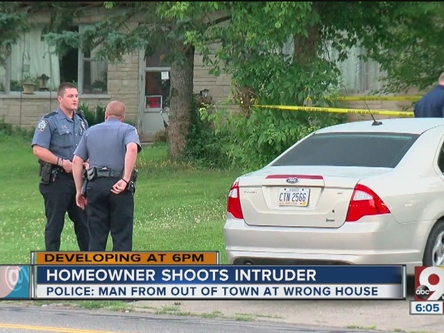 Homeowner shoots man who went to wrong house