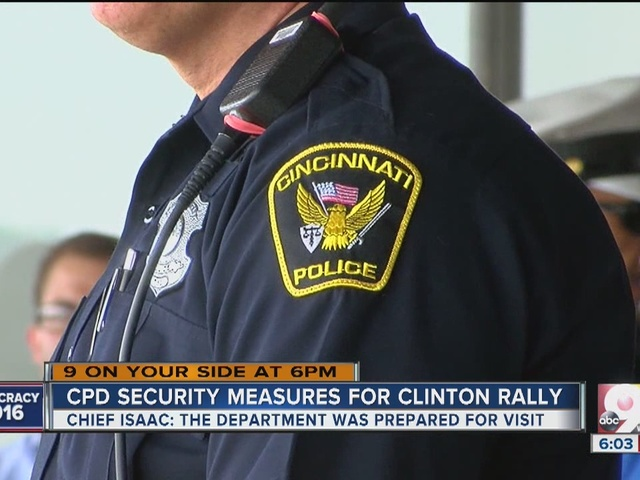 Cincinnati police work with Secret Service to ensure safety