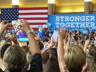 Hillary Clinton rally packs Union Terminal