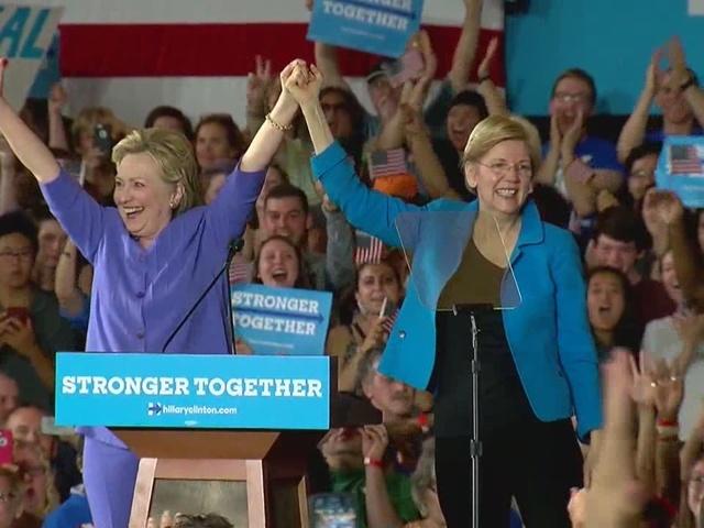 Big draw at Clinton event? Elizabeth Warren