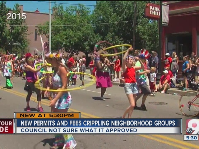 New permits and fees crippling neighborhood groups