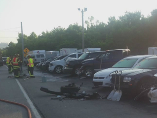 PD: Teen driver drifts off, smashes used car lot