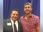 Tyler Eifert poses for photo op at Trump rally