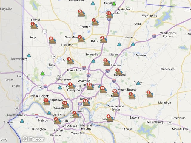 Around 9 5k Without Power In Tri State Wcpo Cincinnati Oh