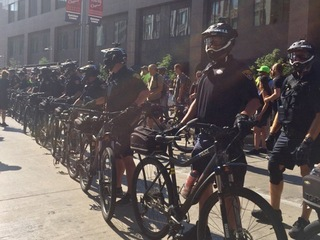 Police quickly break up scuffles in Cleveland