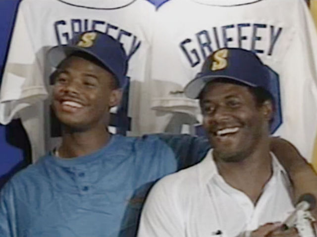 Senior Griffey joins Junior in Seattle