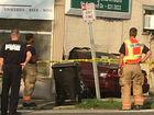 Car crashes through wall of neighborhood market