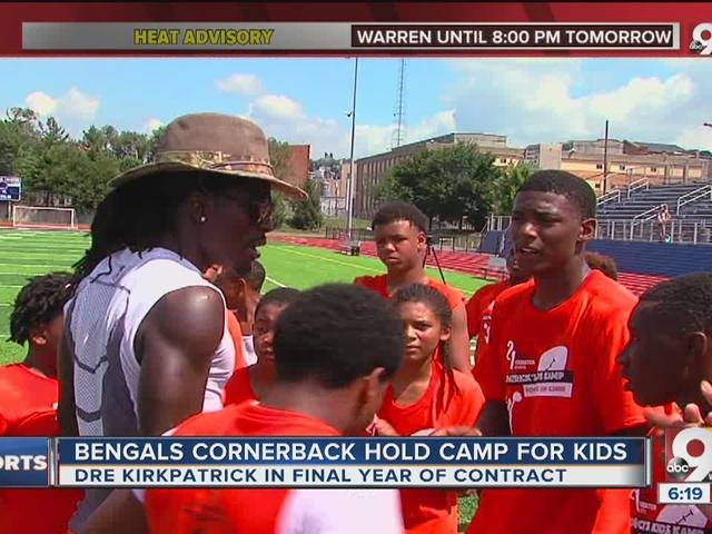 Bengals' Dre Kirkpatrick holds football camp for kids