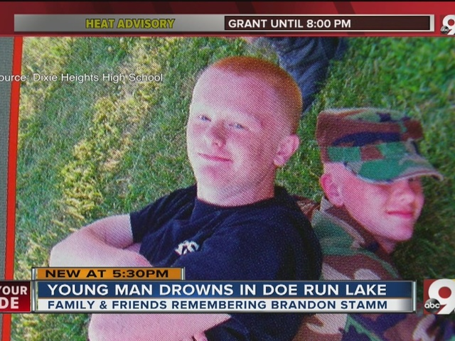 Brandon Stamm: Family and friends remember young man who drowned at Doe Run Lake