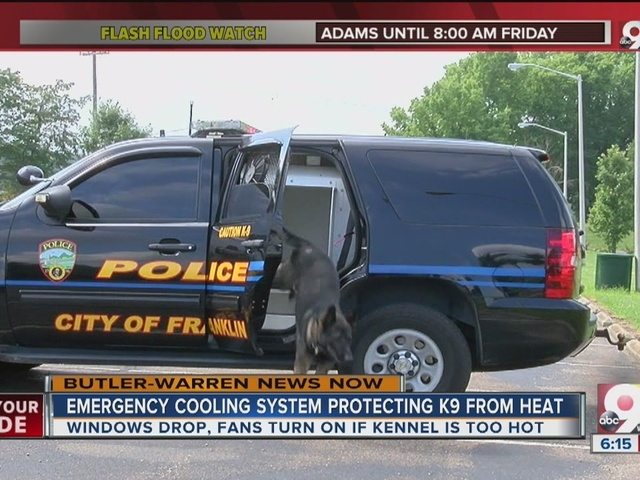 Emergency cooling system protects K9 from heat