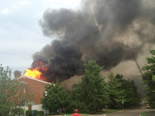 Lightning causes fire at retirement community